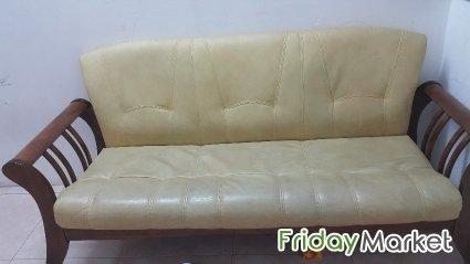Leather 3 seater Sofa sale in Bahrain - FridayMarket