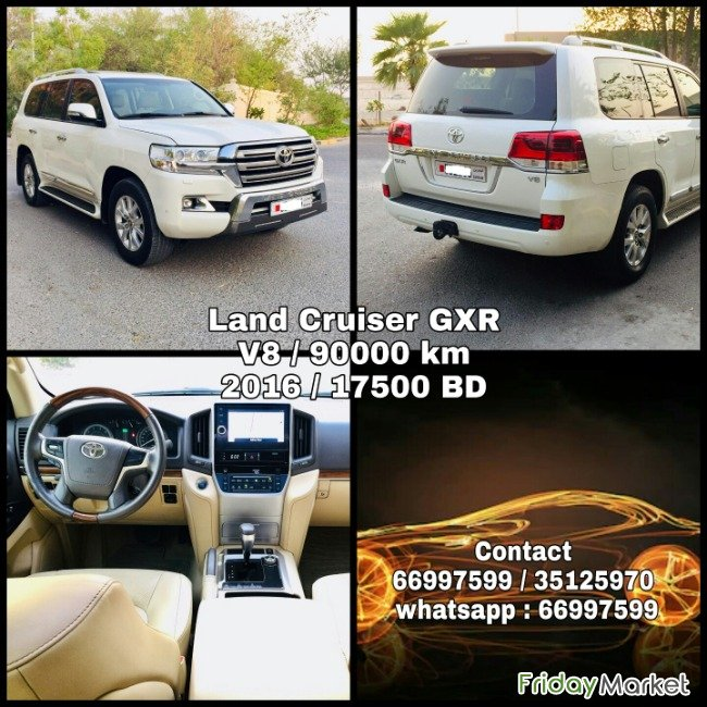 Toyota Land Cruiser GXR 2016 For Sale Hamad Bahrain