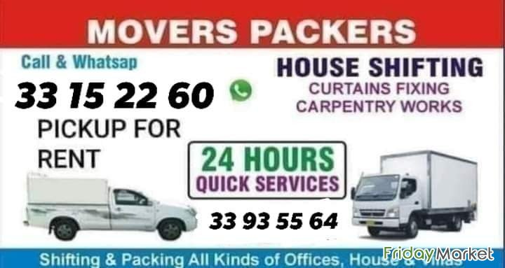 HOUSE MOVERS AND PACKERS SHIFTING Call:33935564 Juffair Bahrain